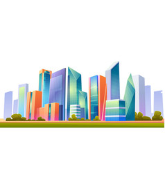 Urban building skyline panoramic banner vector
