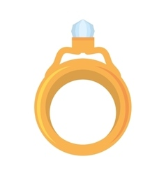 Wedding ring gold luxury icon vector