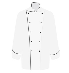 White chef uniform vector image