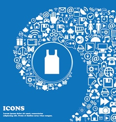 Working vest icon sign nice set of beautiful icons vector