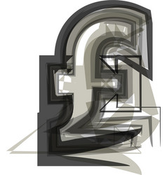 Abstract pound symbol vector