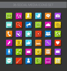 Buttons set of icons application interface logo vector