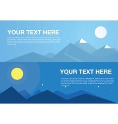 Horizontal mountains banners vector image vector image