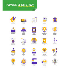 modern material flat design icons - power and vector image vector image