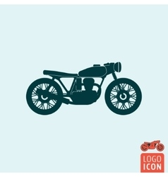 Motorcycle icon isolated vector image vector image