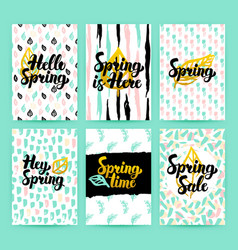spring nature trendy posters vector image vector image