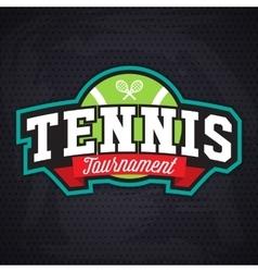 Tennis logo badge design template vector image