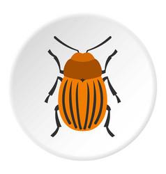 colorado beetle icon circle vector image vector image