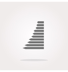 graph web button icon isolated Web Icon vector image vector image