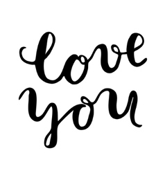 Llove you Brush lettering vector image