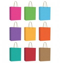 polka dot bags vector image vector image