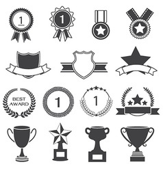 Set of Awards Prizes and Trophy Designs vector image