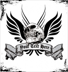 tribal skull tattoo design vector image