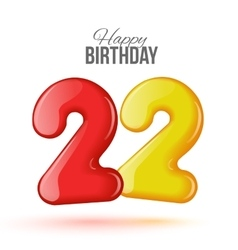 birthday Greeting card with numbers vector image vector image