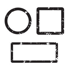 form set stamp texture square and round vector image vector image
