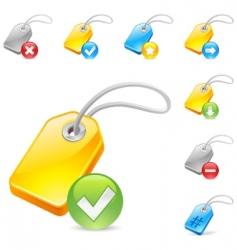 keyword tag icon vector image vector image