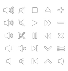 Line media icons vector image