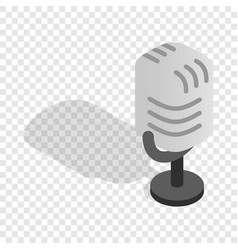 retro microphone isometric icon vector image