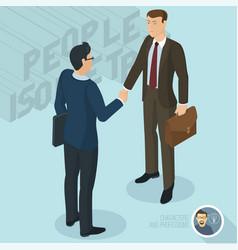 successful businessmen handshaking vector image