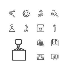 13 development icons vector