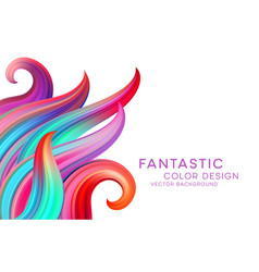 Abstract background with color fantastic waves and vector