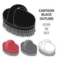 animal brushpet shop single icon in cartoon style vector image