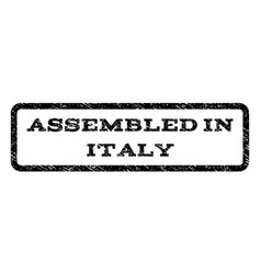 Assembled in italy watermark stamp vector