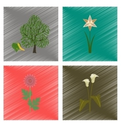 Assembly flat shading style floral vector
