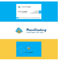 beautiful targeted cloud logo and business card vector image