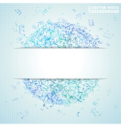 Blue square music background vector
