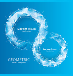 Blue tech geometric background vector