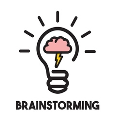 brain storming3 resize vector image vector image