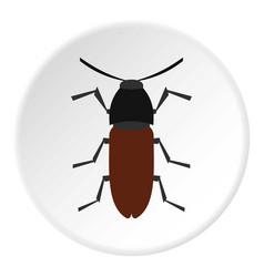 brown bug icon circle vector image