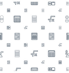 Calculate icons pattern seamless white background vector