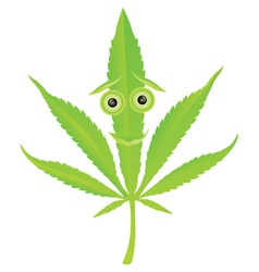 cannabis leaf character vector image