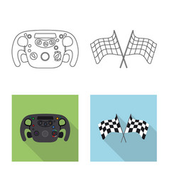 Car and rally sign vector