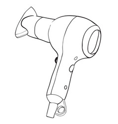 Cartoon image of hair dryer vector