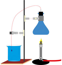 chemical laboratory equipment eps10 vector image