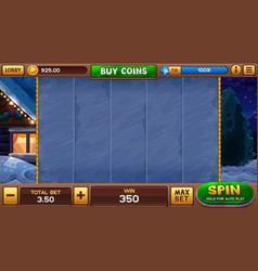 Christmas background for slots game vector