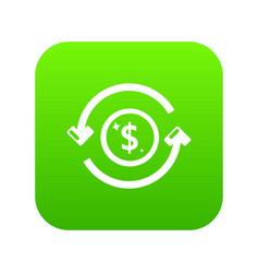 circulation money icon green vector image