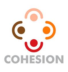 cohesion logo flat style vector image