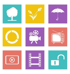 Color icons for Web Design set 44 vector image vector image