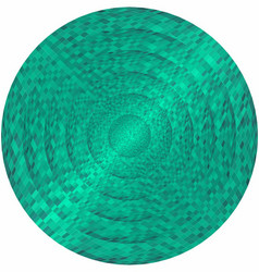 Concentric turquoise circles in mosaic vector