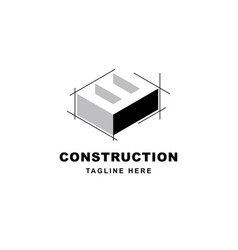 Construction logo design with letter w shape icon vector