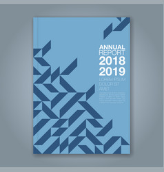 Cover annual report 865 vector