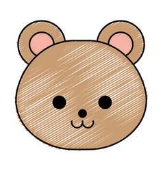 cute little bear character vector image