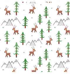 deer doodle pattern vector image