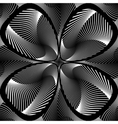 Design monochrome decorative flower background vector