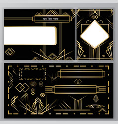 diy set art deco vector image