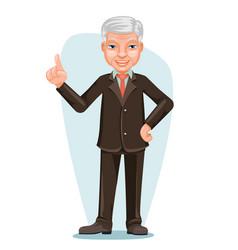 elderly asian businessman chinese japanese vector image